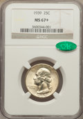 Washington Quarters: , 1939 25C MS67+ NGC. CAC. NGC Census: (245/3). PCGS Population(332/7). Mintage: 33,548,796. Numismedia Wsl. Price for probl...