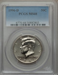 Kennedy Half Dollars: , 1996-D 50C MS68 PCGS. PCGS Population (20/0). NGC Census: (5/0).Mintage: 24,744,000. Numismedia Wsl. Price for problem fre...