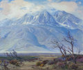 Fine Art - Painting, American:Modern  (1900 1949)  , FRED GRAYSON SAYRE (American, 1879-1939). Storm Crest Over MountSan Jacinto. Oil on canvas. 34-1/2 x 40-1/2 inches (87....