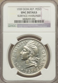Dominican Republic, Dominican Republic: Republic Peso 1939 UNC Details (Surface Hairlines) NGC,...