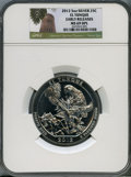 Modern Bullion Coins, 2012 25C El Yunque Five-Ounce Silver MS69 Deep Mirror Prooflike NGC. PCGS Population (635/0). ...