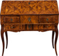 Furniture : French, A LOUIS XV TULIPWOOD SLANT FRONT DESK ATTRIBUTED TO PIERRE ROUSSEL,circa 1750. 38 x 38-1/2 x 19-1/2 inches (96.5 x 97.8 x 4...