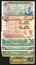 Canadian Currency: , An Assortment of Canadian Material.. ... (Total: 8 notes)