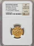 Ancients:Byzantine, Ancients: Heraclius (AD 610-641). AV solidus (4.41 gm)....