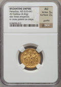 Ancients:Byzantine, Ancients: Heraclius (AD 610-641). AV solidus (4.42 gm)....
