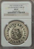 Anguilla, Anguilla: Provisional Government Counterstamped Dollar 1967 MS62NGC,...