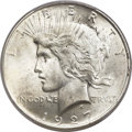 Peace Dollars, 1927-D $1 MS65+ PCGS Secure. CAC....