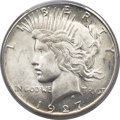 Peace Dollars, 1927-S $1 MS65 PCGS Secure....