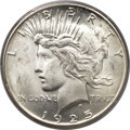 Peace Dollars, 1925-S $1 MS65 PCGS Secure....