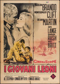 "Movie Posters:War, The Young Lions (20th Century Fox, 1960). Italian 2 - Foglio(39.25"" X 55""). War.. ..."