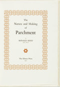 Books:Reference & Bibliography, Robert Reed. LIMITED. The Nature and Making of Parchment.Leeds: The Elmete Press, 1975. First Edition. Limited ...