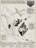 Original Comic Art:Splash Pages, Don Heck Wonder Woman #306 Splash Page 1 Original Art (DC,1983)....