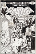 Original Comic Art:Covers, Gil Kane and Tom Palmer Tomb of Dracula #24 Cover OriginalArt (Marvel, 1974)....