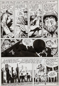 """Joe Kubert Our Army At War #224 """"One For The Money..."""" Page 10 Sgt. Rock and Easy Co. Original Art (DC, 1970)..."""