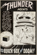 "Original Comic Art:Splash Pages, Ogden Whitney and Wally Wood T.H.U.N.D.E.R. Agents #9 ""BlackBox of Doom!"" Splash Page 1 Dynamo, NoMan, and Lightn..."