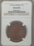 Netherlands East Indies, Netherlands East Indies: Dutch Administration 2 1/2 Cents 1914 MS65Brown NGC,...