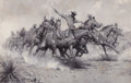 Paintings, WILLIAM HERBERT DUNTON (American, 1878-1936). Battery of the U.S. Field Artillery Going into Action. Oil on canvas. 27-7...