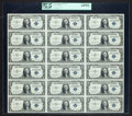 Small Size:Silver Certificates, Fr. 1614 $1 1935E Silver Certificates. Uncut Sheet of 18. PCGS Very Choice New 64PPQ.. ...