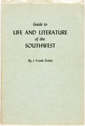 Books:Books about Books, J. Frank Dobie. Guide to Life and Literature of the Southwest. Austin: University of Texas Press, 1943. ...
