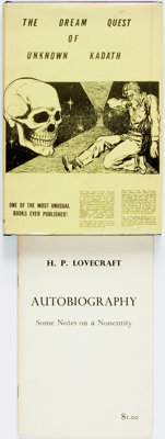 H.P. Lovecraft. LIMITED. The Dream Quest of Unknown Kadath. Buffalo: Shroud, 1955. [together wi