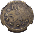 Coins of Hawaii, 1871 12.5C Wailuku Plantation 12 1/2 Cents, Broad Starfish, VF35NGC. Medcalf 2TE-3....