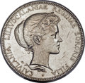 Coins of Hawaii, 1893 $1 Princess Kailulani Pattern Silver Dollar, Medcalf 2MH-3,AU58 PCGS....
