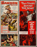 "Movie Posters:Adventure, Samson and Delilah & Other Lot (Paramount, R-1959). Inserts (2)(14"" X 36""). Adventure.. ... (Total: 2 Items)"
