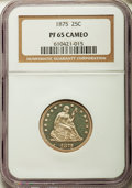 Proof Seated Quarters, 1875 25C PR65 Cameo NGC....
