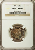 Proof Barber Quarters, 1914 25C PR66 Cameo NGC....