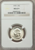 Washington Quarters, 1935 25C MS67+ NGC....