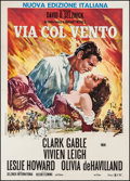 "Movie Posters:Academy Award Winners, Gone with the Wind (CIC, R-1970s). Italian 2 - Foglio (39"" X 55"").Academy Award Winners.. ..."