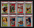Football Cards:Lots, 1955 Topps All-American PSA graded Group (8). ...