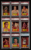 Basketball Cards:Lots, 1957 Topps Basketball Graded Group (9). ...