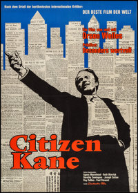 "Citizen Kane (Constantin Films, R-1962). German A1 (23.25"" X 32.5""). Drama"