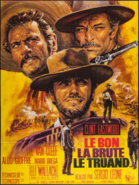 """The Good, the Bad and the Ugly (United Artists, R-1970s). French Grande (45.5"""" X 61""""). Western"""