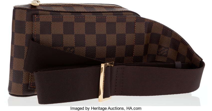 2c8067a702c6 Louis Vuitton Damier Ebene Canvas Geronimos Waist Bag. ... Luxury ...