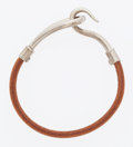 Luxury Accessories:Accessories, Hermes Natural Bridle Leather Jumbo MM Bracelet with PalladiumHardware. ...