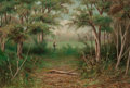 Fine Art - Painting, European:Modern  (1900 1949)  , A. DE SIMONE (Italian, 19th Century). Italian Forest. Oil on canvas. 18 x 28 inches (45.7 x 71.1 cm). Signed lower left:...