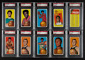 Basketball Cards:Lots, 1970 Topps Basketball PSA Graded Group (10) With Alcindor. ...
