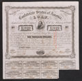 Confederate Notes:Group Lots, Ball 245 Cr. UNL $1000 1863 Trans-Mississippi Bond Fine.. ...