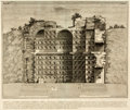 Books:Prints & Leaves, Original Black and White Etching of a Roman Burial Chamber by Antonio Buonamici. No date, circa 1780. ...