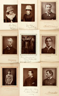 Books:Prints & Leaves, Group of Sixteen Woodburytype Photographic Prints of NineteenthCentury Actors. Taken from The Theatre. [N.p., n.d., cir...