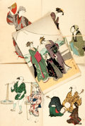Miscellaneous:Postcards, [Japanese Postcards]. Group of Five with Hand-Coloring. Tokyo:Shimbi Shoin, circa 1930. ...