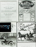 Books:Prints & Leaves, [Automobiles]. Small Archive of Material Relating to Automobiles.May include photographic reproductions, negatives, slides,...