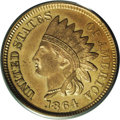 1864 1C One Cent, Judd-356, Pollock-426, Low R.6, PR64 PCGS. Struck from the same dies as the 1864 No L Indian Cent on a...