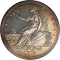 Patterns: , 1875 $1 Dollar, Judd-1420, Pollock-1563, High R.7, PR61 PCGS. ATrade dollar pattern with Lib...