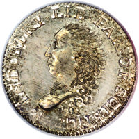 1792 H10C Judd-7, Pollock-7, R.4. SP67 PCGS. Ex: Starr. Regardless of grade, the ownership of a 1792 half disme clearly...