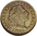 Early Half Dimes: , 1795 H10C AU58 NGC. V-5, LM-8, R.4. This is a remarkable examplefor its high technical grade, late die state, and extensiv...
