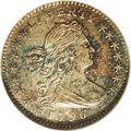 Early Half Dimes: , 1796 H10C MS62 NGC. V-1, LM-1, R.3. This is the LIKERTY varietywith the weak loops on the B which give the appearance of a...