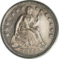 Proof Seated Half Dimes: , 1855 H10C Arrows PR62 PCGS. A rare coin in the proof format andimportant as it has the Arrows obverse, a short-lived type....